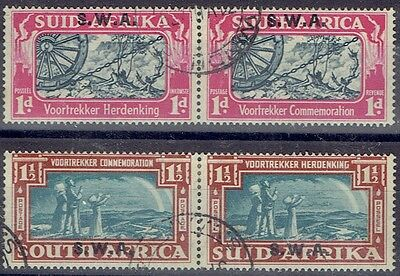South West Africa 1938 Voortrekker set of 2 very fine used