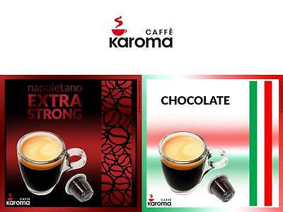100 Italian Nespresso Compatible Capsules! MIX Extra strong and Chocolate