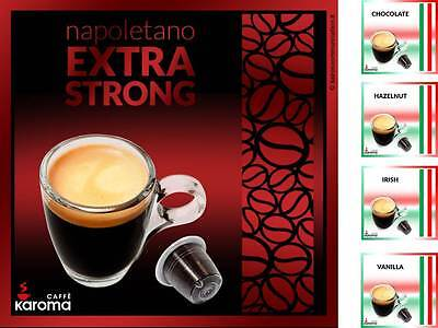 50 Italian Nespresso Compatible Capsules! Extra Strong plus 4 flavors