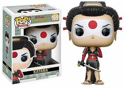 Funko Pop Vinyl - DC Comics Bombshells - 'Katana' Figure - Damaged Box.