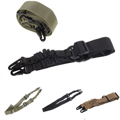 Adjustable Hunting One Point Rifle Sling Bungee Tactical Shotgun Strap System BU