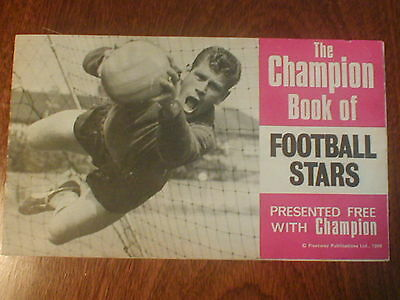 """The Champion Book of Football Stars[presented free with """"Champion"""" comic]- 1966"""
