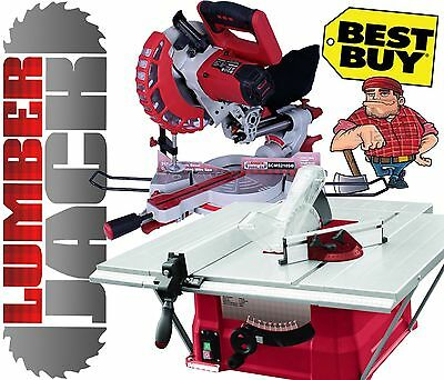 "Lumberjack TRADE 10"" Bench Top Table Saw & 8"" Sliding Compound Mitre Saw 240v"