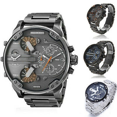 Men's Male Fashion Luxury Watch Stainless Steel Sport Analog Quartz Wristwatches