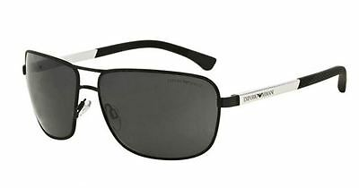 Genuine Emporio ARMANI EA2033 Sunglasses replacement Lenses: Grey Polycarbonate