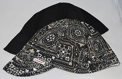 NWT BANDED Comeaux Caps Welding Welder Hats Pipe Fitter Reversible Red Bandana