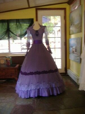 Shades of Purple Civil War Southern Belle - Edwardian Costume