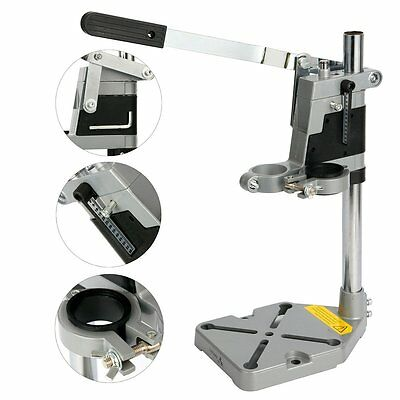 Bench Clamp Drill Press Stand With Side Clamp Tool for 43mm Drilling Collet US