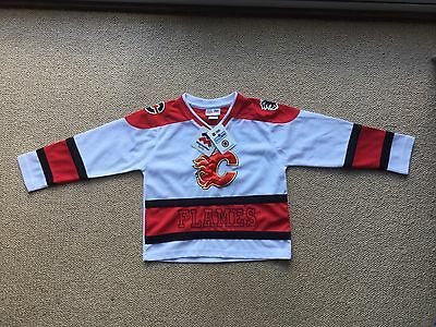 Child's (Size 6) NHL (Ice Hockey) Calgary Flames Jersey / Shirt / Top