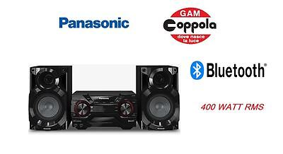 Hi-Fi Panasonic Sc-Akx200 -Doppia Usb-Mp3-Cd-Radio Fm/am-Aux In-Bt-400 Watt Rms