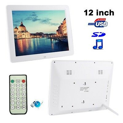 S-Pf-0126W_Sun 12.0 Inch Digital Picture Frame With Remote Control Support Sd /