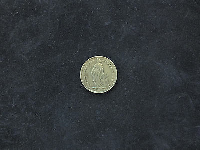 Silver Swiss One Franc Coin, 1963.