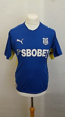 Cardiff City Fc Shirt 2009/10 Home Size S Small - Puma Blue
