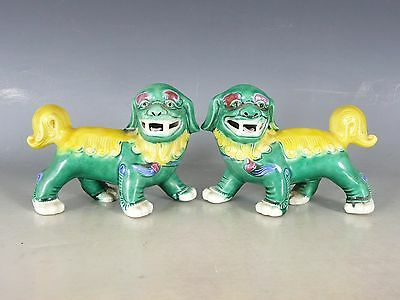 Pair Of Chinese Porcelain Foo Lion Dogs 20Thc