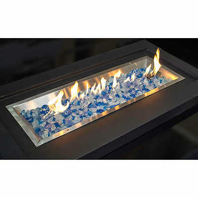 Fire Pit Glass Crystal Decorative Fireplace Stone Rock Amber Clear Blue 10-20lb