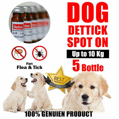 DOG SPOT ON For The Treatment and Prevention on Flea and Tick 1cc x 5 bottles