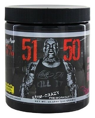 Rich Piana 5% Nutrition 5150 Pre Workout High Energy Focus Pump Strength 30 serv