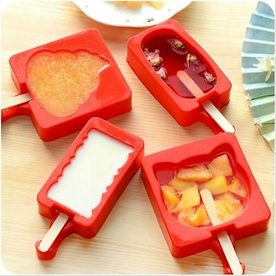 Silicone Cool Summer Popsicle Maker Cartoon Ice Cream Mold Kitchen Utensils