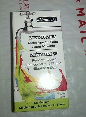 New! Schmincke Fluid Oil Medium W 60 ml, Oil Paint Mixable, Free Shipping!