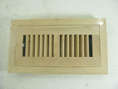 Decor Grates 4 in. x 10 in. Unfinished Maple Louvered Flushmount Register A5706~