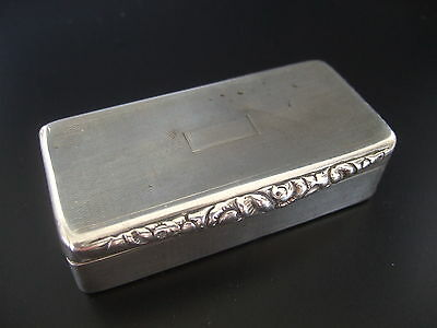 George IV Sterling Silver Rectangular Lidded Snuff Box – T. Prothero London 1824