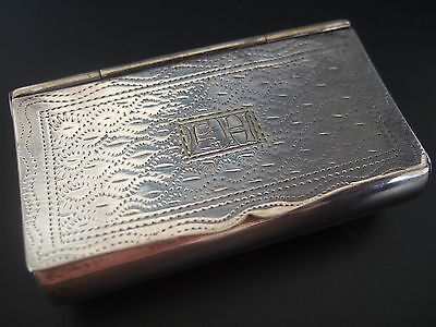 Old Sheffield Plate Rounded Rectangular Silver Snuff Trinket box