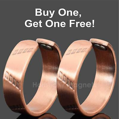 SET of TWO Copper Magnetic Rings - Powerful Relief 4 Arthritis in Fingers – PY
