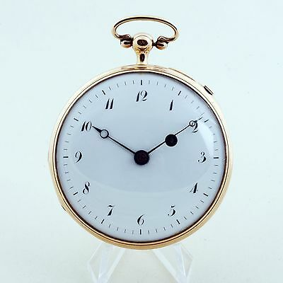 Carillon repeater ZIPPER verge pocket watch in 18k gold and very very rare,VIDEO