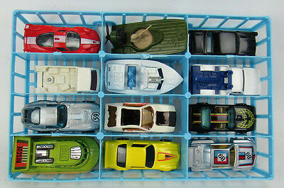 12 Vintage Matchbox Hot Wheels Cars With Tray Lot 1