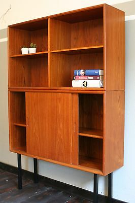60er Jahre Teak Sideboard Highboard Bücherregal Danish Modern Design