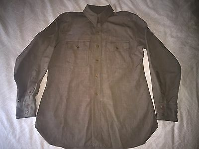 mens large antique The Captain ww1 greenish brown us army military shirt L vtg