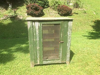 Primitive Meat Or Pie Safe, Four Shelved , Handmade Americana , Country