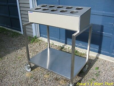 Atlas Metal Industries Food Tray and Silverware Dispenser Cart CWTS