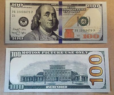 $100 Bill - Best Movie Prop Money - Fake Prank - Looks Real - Free Shipping!