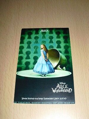 CP Carte Postale Disney Alice In Wonderland Tim Burton