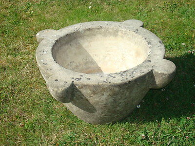 Large Antique Marble Mortar