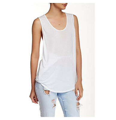 Michael Stars New with Tags Scoop Neck Tank White Small