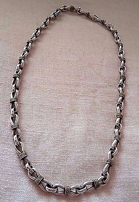Unique Unisex 925 Sterling Silver Necklace with Touches of Copper
