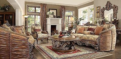 Brand New Homey Design Hd 1601 7Pc Living Room Set Couch Sofa Love Seat