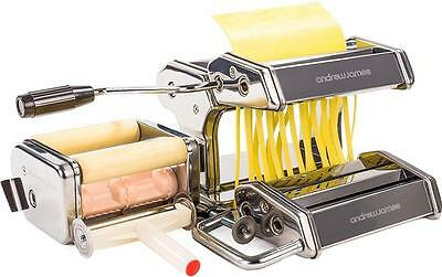 Andrew James Pasta Maker Machine Roller With 4 Cutters & Bonus Ravioli Cutter