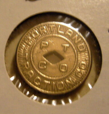 Portland Traction CO. Good For One Fare Token