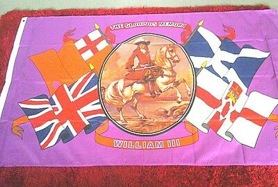 king william of orange with ulster flag and Scottish flag top quality