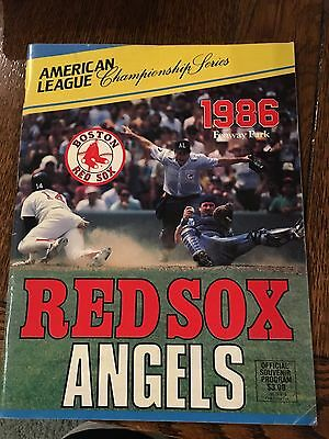 1986 American League Championship Series Boston Red Sox Angels Official Program