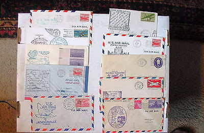 US Air Mail First Flight 1948-1976 ~  LOT OF 10 Covers ~ Fine/VeryFine