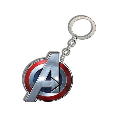 Genuine Marvel Avengers Logo Age Of Ultron 'Captain America' Metal Keyring Gift