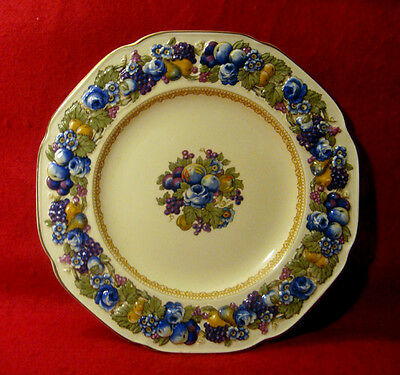 Vintage Crown Ducal *florentine* Plate Embossed Rim Made In England