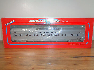 """American Flyer S Gauge # 6-48927 Western Pacific """"silver Sage"""" Dome Car - New"""
