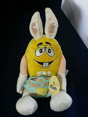 M&M World, Easter Bunny Plush Toy - new with tags
