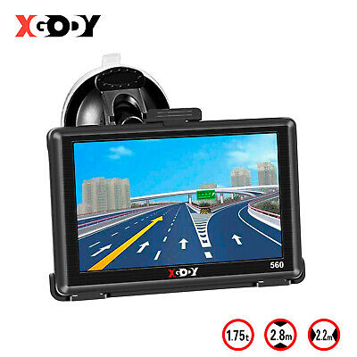 5 Inch GPS Navigation Car Truck HGV Navigator SAT NAV 8GB ROM Speed Limit XGODY