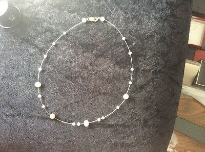 9Ct Gold Floating Pearl Necklace